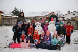 Hóembert építettünk...